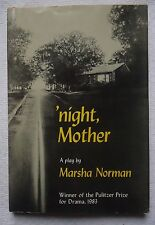 'NIGHT, MOTHER A PLAY BY MARSHA NORMAN (1983, HARDCOVER BOOK)