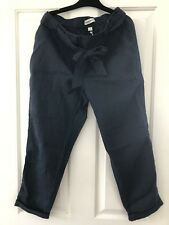 Country Road Navy Relaxed Linen Pants New Size 10
