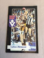 VFL Football Record 1982 Carlton V Richmond