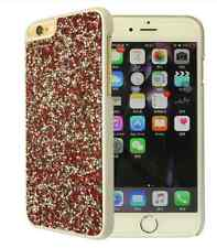 Red Silver Rock Made with Swarovski Crystal Bling Glitter Case Cover iPhone 7/8