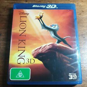 The Lion King Disney 3D Bluray LIKE NEW! FREE POST