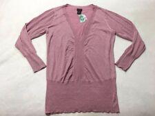 NEW Torrid Size 2 Pink Metallic Sparkle Deep V Neck Pullover Sweater
