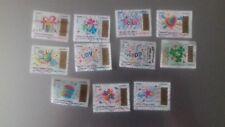 France 2017 : Lot de 11 timbres en provenant du carnet a gratter oblitéré .