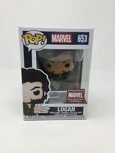 Funko POP! Logan #653 X-Men Wolverine Marvel Collector Corps +Pop Protector