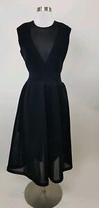 Theyskens' Theory A-line Dress In Black Sz M