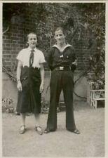 (92) Sammlung von 3 Fotos BDM Mädel Kriegsmarine und RAD von 1936