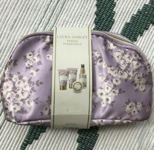 LAURA ASHLEY Travel Essentials WILD BLOSSOM Zipped Make up Bag
