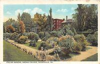 A73/ Gainesville Georgia Ga Postcard 1926 Italian Gardens Brenau College
