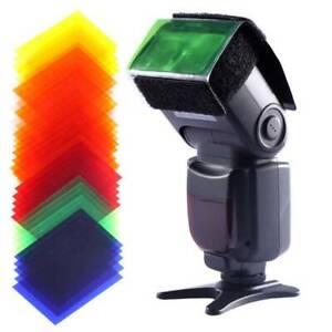 20Pcs Flash Color Card Diffuser Lighting Gel Filters for Camera Speedlite DM