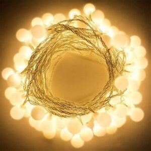 Gledto 4m 40 LED Waterproof Globe String Lights Battery Fairy Light Warm White