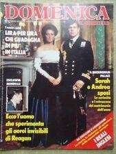 La Domenica del Corriere 2 Agosto 1986 Sarah Andrea Corrida Corrado Mango Reali