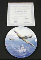 Royal Doulton Spitfire Over St Pauls Heroes Over Home Territory bone china plate