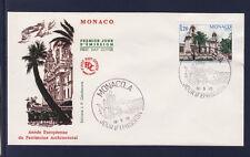 MONACO   enveloppe 1er jour    patrimoine architectural     1975