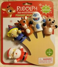Rudolph The Red Nosed Reindeer Finger Puppets 5 Piece Toy Set