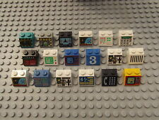 18 Lego Printed Brick Slopes 45 2 x 2 Different Designs Patterns Set 3039 04