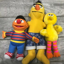 Sesame Street 3 Plush Toys Bert Ernie And Big Bird