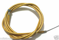 """BIKE BICYCLE 1 Brake Housing 60"""" + 1 CABLE 68"""" Braided Gold + 2 FREE CAPS"""