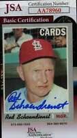 Red Schoendienst 1970 Topps Jsa Coa Hand Signed Authentic Autograph