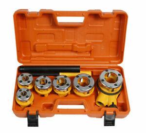Filiera per tubi 6 pezzi con prolunga leva estensore in valigetta filettatrice