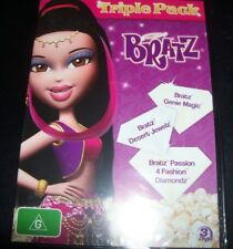 Bratz Genie Magic/Desert Jewelz/Passion 4 Fashion Diamondz (Aus Reg 4) 3 DVD NEW