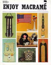 Enjoy Macrame May/June 1981 Vol. 5 No. 3 Newsletter Book American Flag Pattern