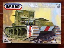 "EMHAR 1/72 WW 1 BRITISH Mk A ""WIPPET "" MEDIUM BATTLE TANK  # 5004 FACTORY SEALED"