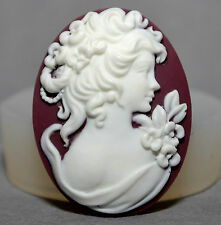 Cameo lady silicone mould Cupcake polymer clay chocolate resin fimo mold plaster