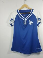 WOMENS AUTHENTIC MAJESTIC DODGERS  JERSEY SIZE LARGE  Cool Base
