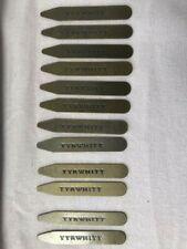 Charles Tyrwhitt - 6 pairs of Brass Collar Stiffeners - 6.5cm long