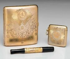 GERMAN Silver Cigarette Case, Holder, Match Safe for Ottoman Sultan, 1885
