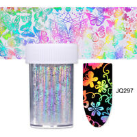 Holographicssss Nail Foil Laser  Butterfly Flower Nail Art Transfer Sticker