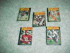 1977 Topps Mexican Football Wrapper Set (5) Miami Dolphins Buffalo Bills