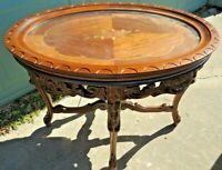 Circa 1920s French Marquetry Inlaid Tray Coffee Table