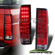 For 1986-1997 Nissan Hardbody Pickup/D21 JDM Red Clear Rear Brake Tail Lights