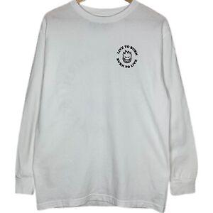 Spitfire Long Sleeve Mens White T-Shirt Size Medium Skateboarding