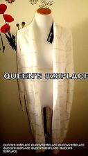 Nwt Spring & Mercer Womens Plus size Beige Striped LONG OPEN CARDIGAN Top 1X New