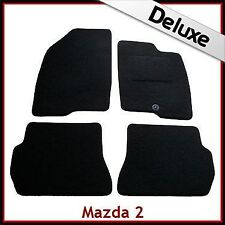 MAZDA 2 mk2 2003-2007 Completamente Su Misura 1300g di Lusso Tappeto Tappetini Per Auto Nero
