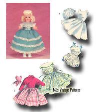 "Vintage Doll Clothes Dress Pattern 15"" 16"" Toni, Miss Revlon, Sweet Sue"