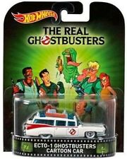 2015 HOTWHEELS RETRO ENTERTAINMENT GHOSTBUSTERS ECTO-1 CARTOON MINT VHTF NEW