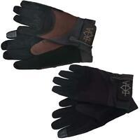 B&A Ladies Lightweight Nubuck Suede Leather Non Slip Grip Horse Riding Gloves