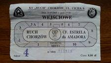 Ticket RUCH CHORZOW - ESTRELA AMADORA 1998/99 Intertoto Cup Poland Portugal
