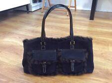 LADIES Stylish JANE SHILTON SW6 Black Faux Suede WOMENS Handbag BAG