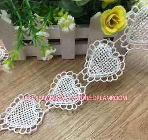 BF116 1 yard Heart shape Lace Edge Trimming Ribbon Crochet Handicraft Sewing DIY