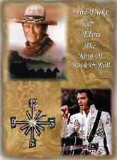 John Wayne and Elvis (The Duke) Wall Clock  It would make a great  Gift