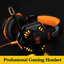 Stereo Bass Gaming Headphones Headset with Microphone for PC Laptop Skype Game