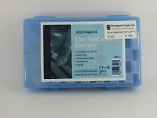 Professional Blue Assorted Plasters Catering Food Area Pack 120 Hypo-allergenic