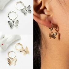 2020 Simple Butterfly Earrings Hoop Drop Dangle Ear Women Fashion Jewelry Gifts