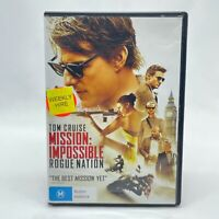 Mission Impossible: Rogue Nation (DVD, 2015) Region 4 With Tom Cruise