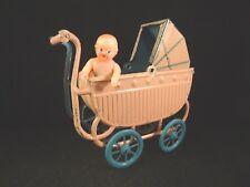 Ancien rare landau miniature tôle lithographié poupée Germany Ges Gesch 1920 TBE