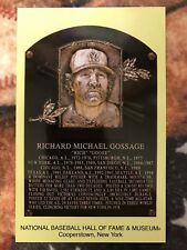 Goose Gossage Postcard- Baseball Hall of Fame Induction Plaque- Photo - Yankees